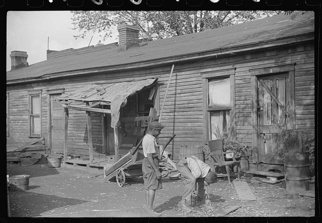 "Homes of Negroes in ""Paradise Alley,"" Charleston, West Virginia"