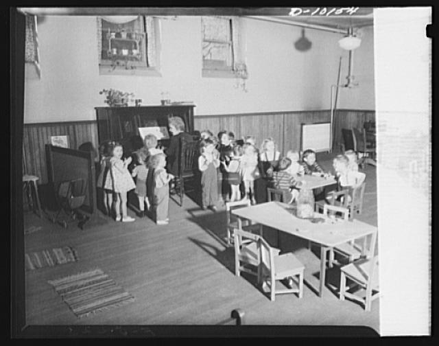 War nursery schools. Scranton, Pennsylvania.These youngsters may not be able to sing an aria but they are having a good time in a war nursery school in Scranton, which is one of four in this community. Child care centers meet a critical need for supervised care of children of mothers employed in war work