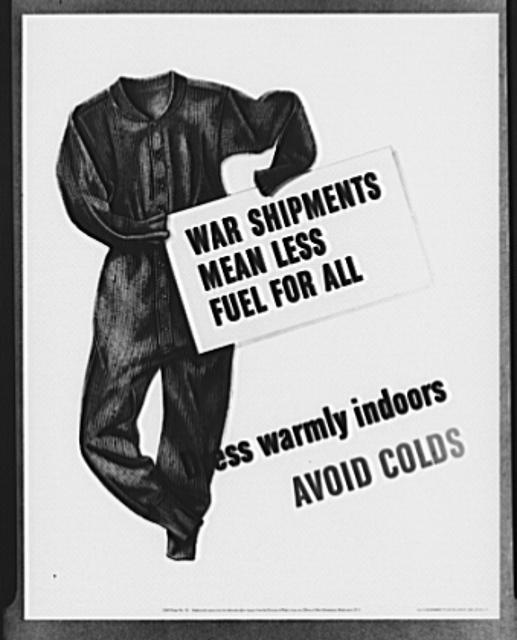 Poster distributed by Office of War Information (OWI) to Office of Civilian Defense councils. The original is 22 inches x 28 inches and is printed in red and yellow on white. Copies may be obtained from the Division of Public Inquiries, OWI, Washington, D.C.