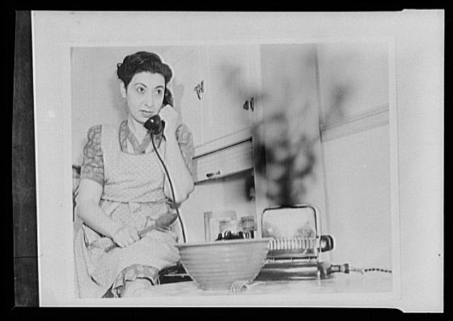 "Hitler's helpmates. Mabel Wattwaster is helping to win the war--but she's working for the wrong side. As she drones gossip into the telephone, her toast burns merrily away. She is not only wasting food and power, but is also impairing the efficiency of her toaster by letting it overheat. Mabel knows that much household equipment like toasters will be irreplacable for the duration. She also believes in the consumer's victory pledge (""I will take good care of the things I have . . .""), but still there are times Hitler is counting on her to lower America's civilian resources, and ultimately to weaken America's morals"