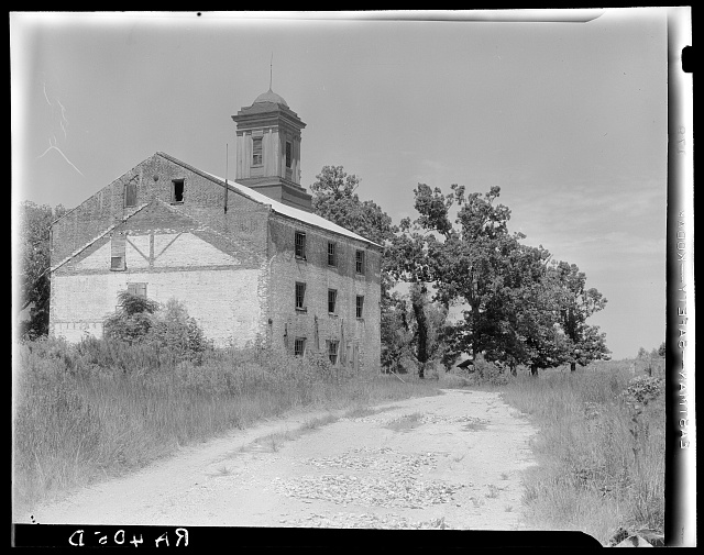 Abandoned sugarcane warehouse. Placquemines Parish, Louisiana