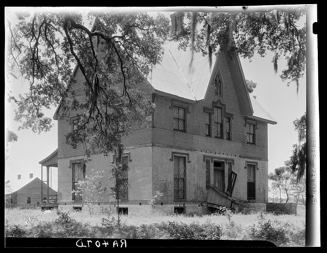 Abandoned mansion of the owner of a large sugarcane plantation. Placquemines Parish, Louisiana