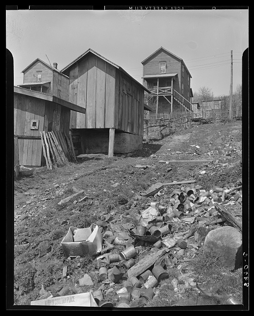 Refuse heap behind company houses. Kempton, West Virginia