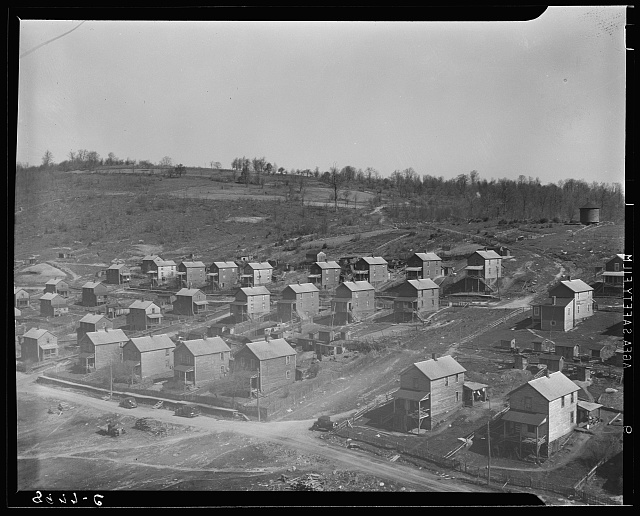Company houses in coal town. Kempton, West Virginia
