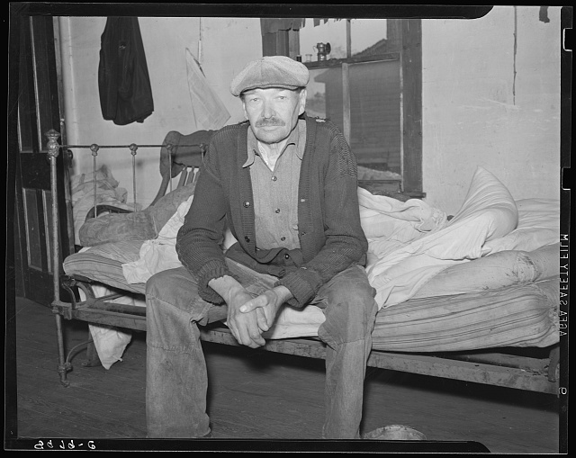 Old miner living in company town. Kempton, West Virginia