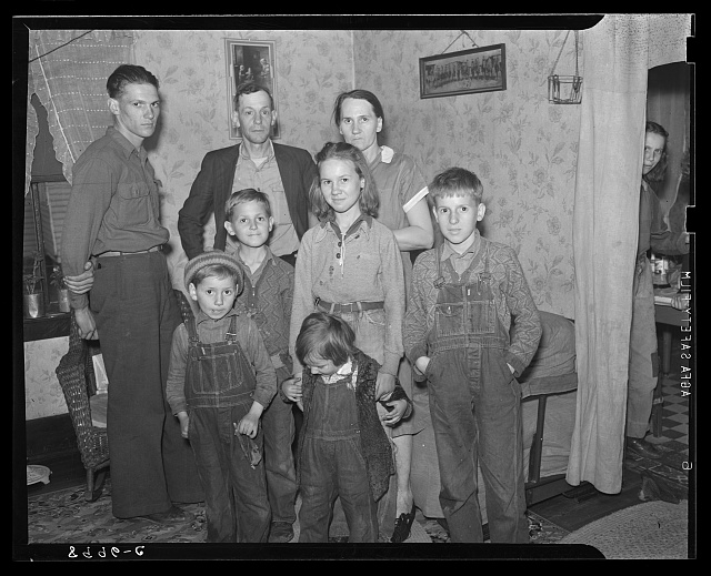 Coal miner and family, residents of company town. Kempton, West Virginia