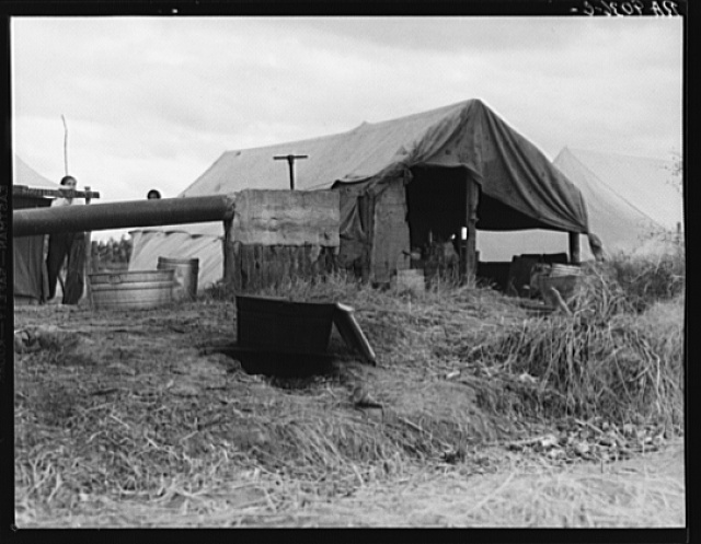 Cotton pickers camp. Kern County, California
