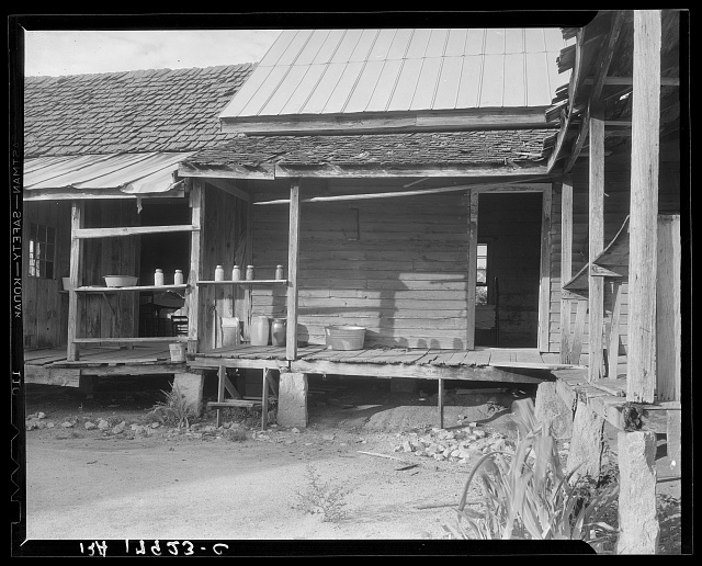 House in which cotton farmer has lived for fifty years. Macon County, Georgia