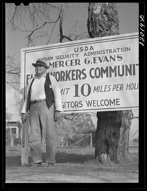 Weslaco, Texas. FSA (Farm Security Administration) camp. Community traffic officer