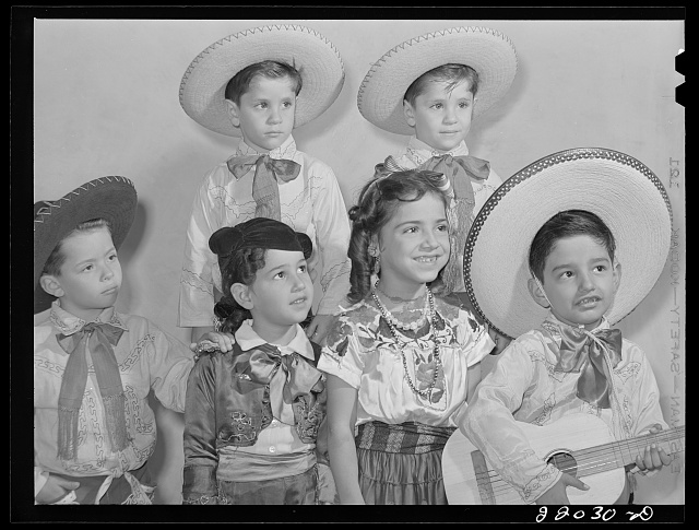 Brownsville, Texas. Charro Days fiesta. Children