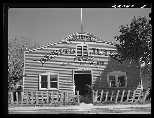 Brownsville, Texas. Sociedad Benito Juarez. Mexican section