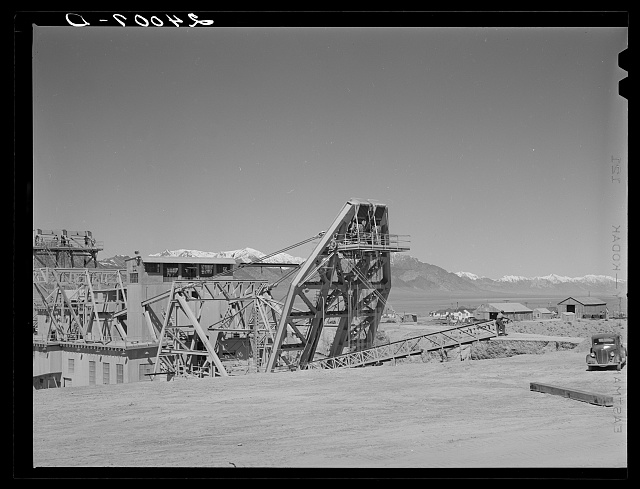 Gold dredge. Nye County, Nevada