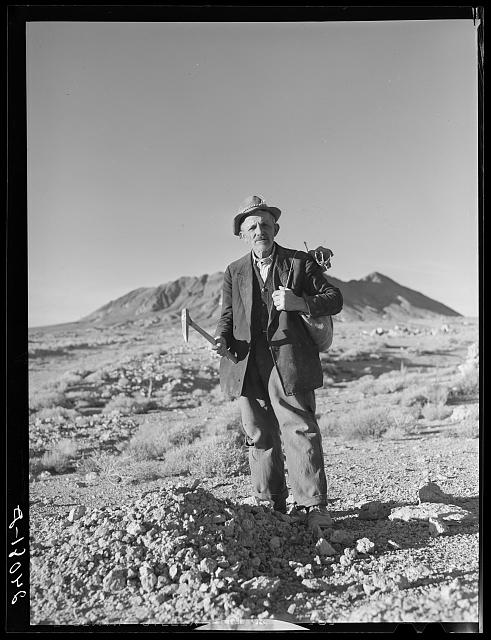 Rocky Mountain George, sixty-eight year old prospector. Esmeralda County, Nevada