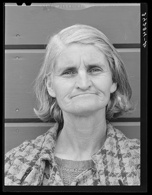 Wife of migrant. Tulare migrant camp. Visalia, California