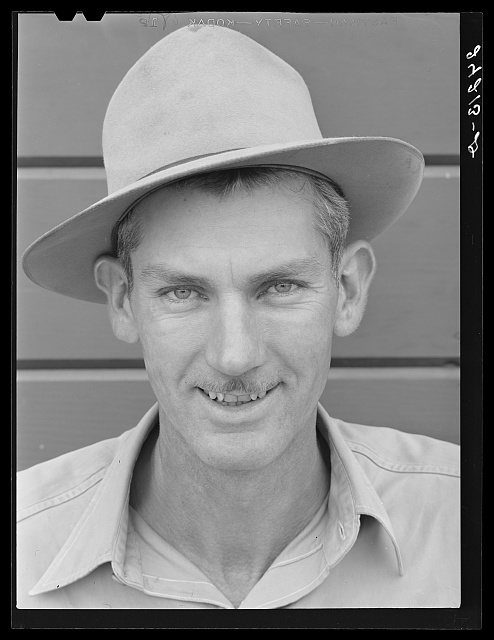 Migrant field worker. Tulare migrant camp. Visalia, California