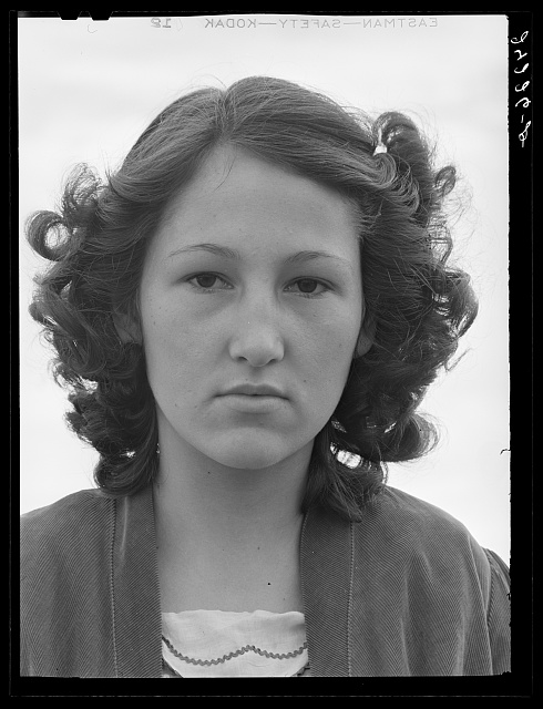 Migrant girl. Tulare migrant camp. Visalia, California