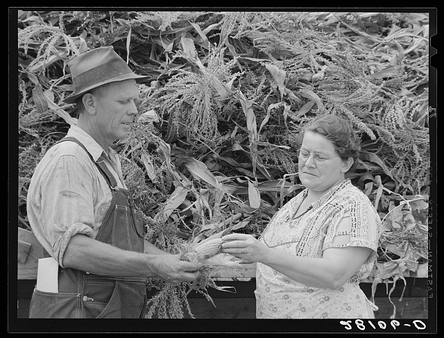 Henry Lundgren, manager of dairy farm, with wife. Dakota County, Minnesota