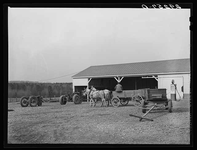 Farm implement shed. Durham County, North Carolina