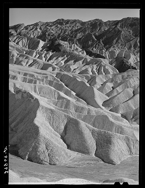 Badlands in the Panamint Range. Death Valley, California