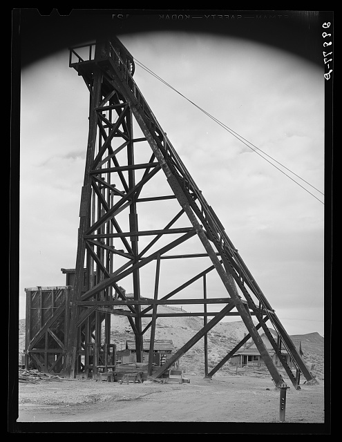 Head frame. Goldfield, Nevada