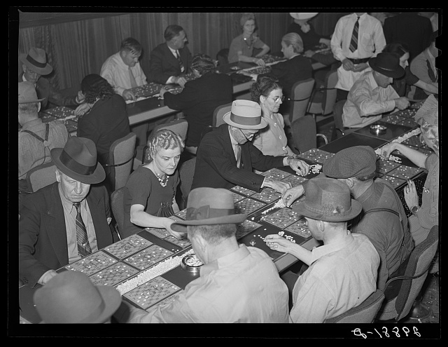 Bingo game. Las Vegas, Nevada