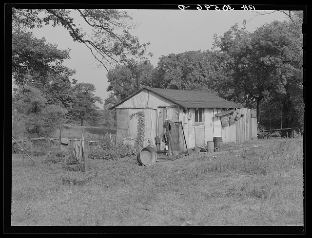 Quarters for housing beet workers during the summer near Chaska, Minnesota