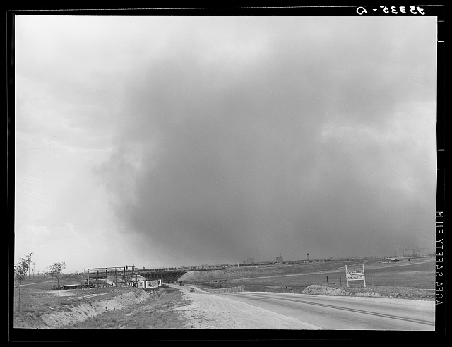 Dust storm over Lubbock, Texas