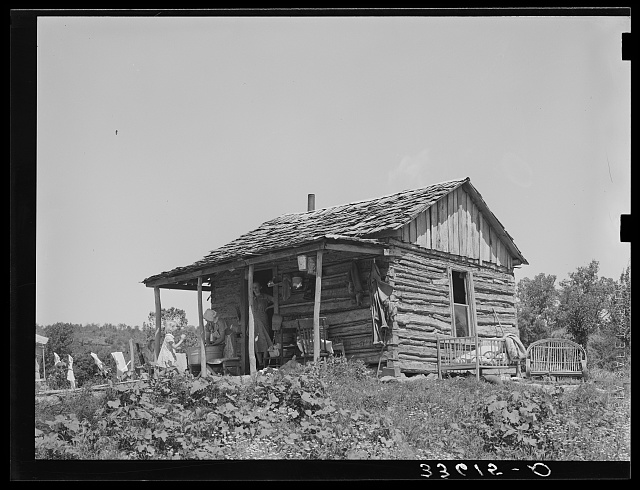 Home of tenant farmer near Sallisaw, Oklahoma