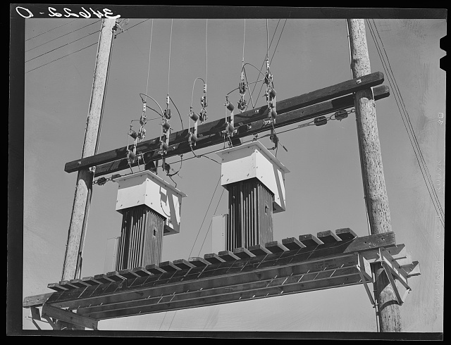 Electric transformers. Taylor, Texas