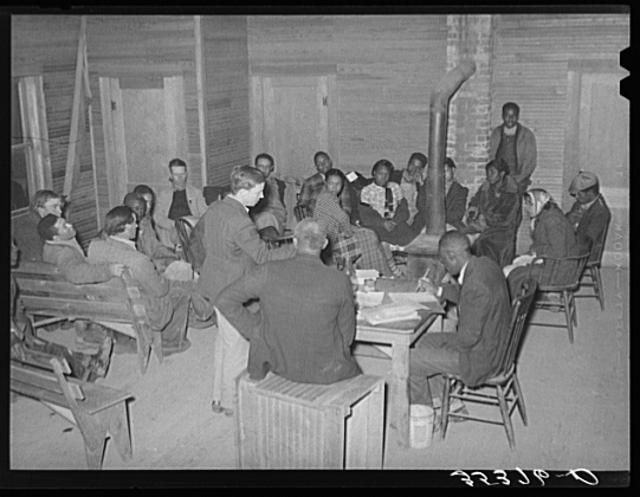 Meeting of agricultural workers union at Tabor, Oklahoma
