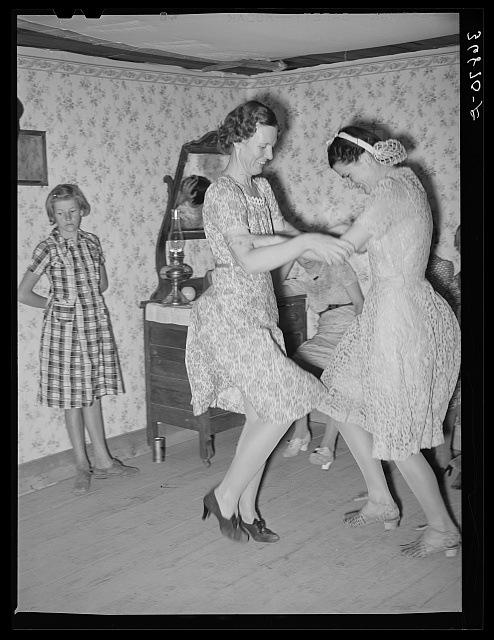 Dancers at the square dance. Pie Town, New Mexico