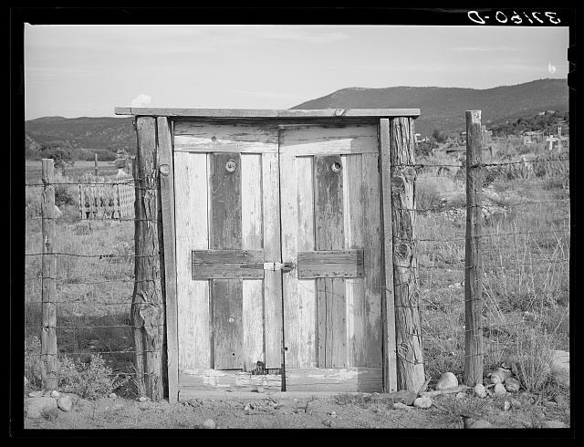 Entrance to the cemetery at Penasco, New Mexico