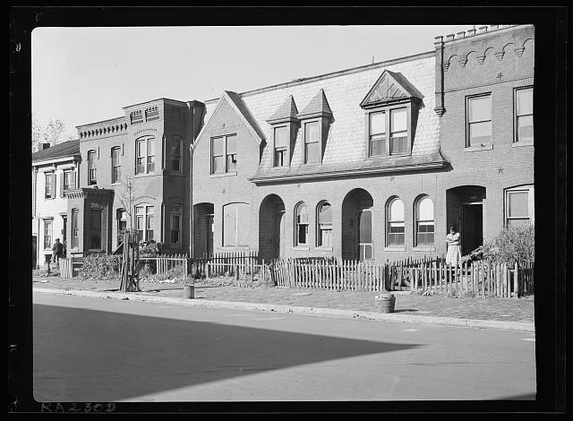A fine old home alongside a shabby Negro house. Florida Avenue and 19th Street N.W., Washington, D.C.