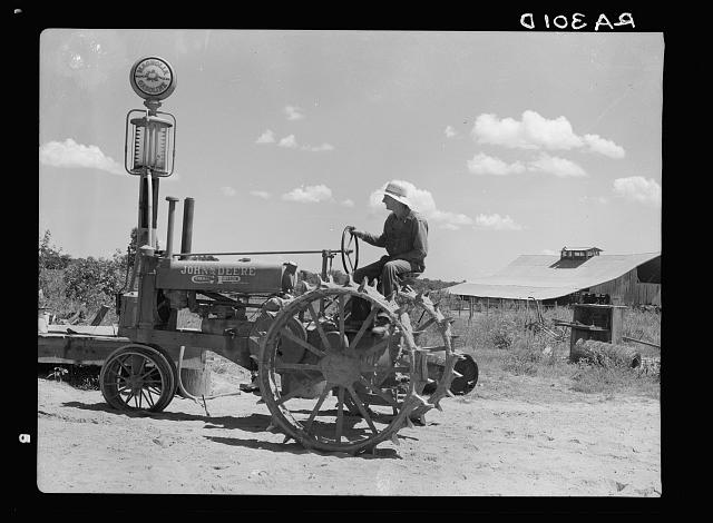Stortz cotton plantation, Arkansas. Tractor and operator