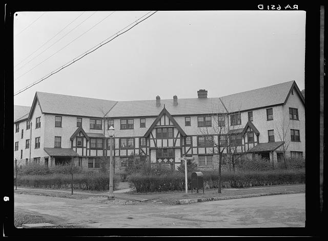Mackenzie unit on Beech Street of Mariemont Housing Community, outside Cincinnati, Ohio