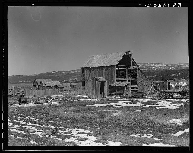 Farm buildings in the purchase area. Widtsoe, Utah