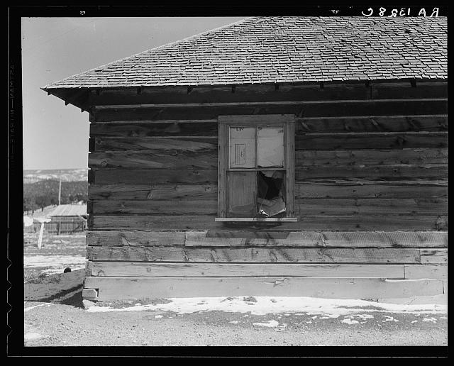 Detail of occupied house. Widtsoe, Utah