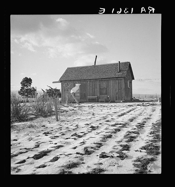 Widtsoe farm home. Resettlement Administration purchase. Utah