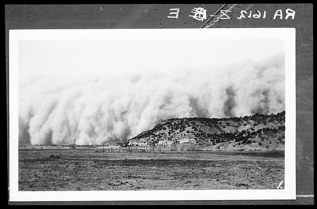 Baca County, Colorado. April 14, 1935. Dust storm. Colorado