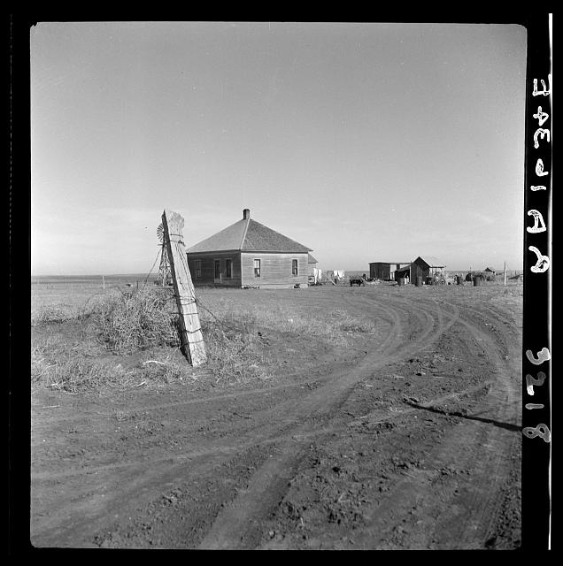 Typical farm in the Mills area, New Mexico. These people are to be resettled, their land to revert to cattle range