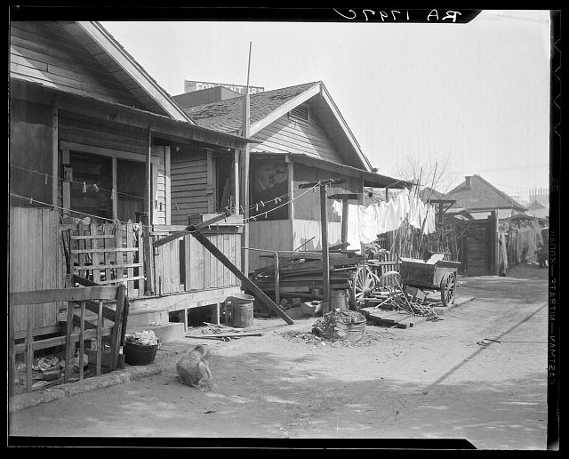 Mexican quarter of Los Angeles, California. Average rental is eight dollars. Some houses have plumbing. See card 1799-C for detailed information
