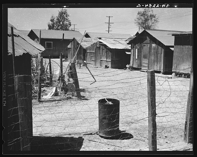 Homes of Mexican field laborers. Brawley, Imperial Valley, California