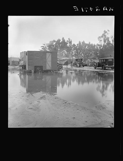 Migrant camp, California