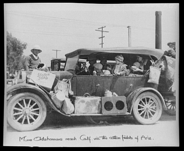 Oklahoma dust bowl refugees. San Fernando, California