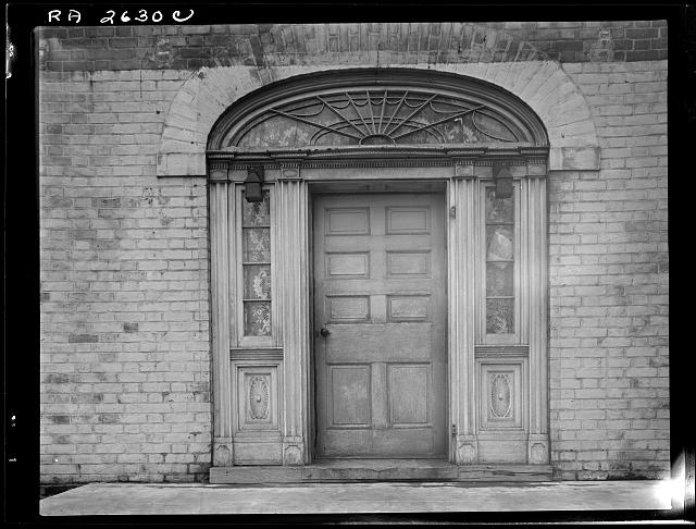 Door of 100-year-old Marguard house at Greenhills project, Ohio