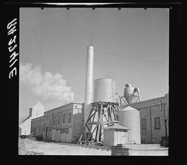 A cotton seed oil plant. Amarillo, Texas