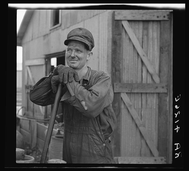 Zinc smelter worker. Picher, Oklahoma