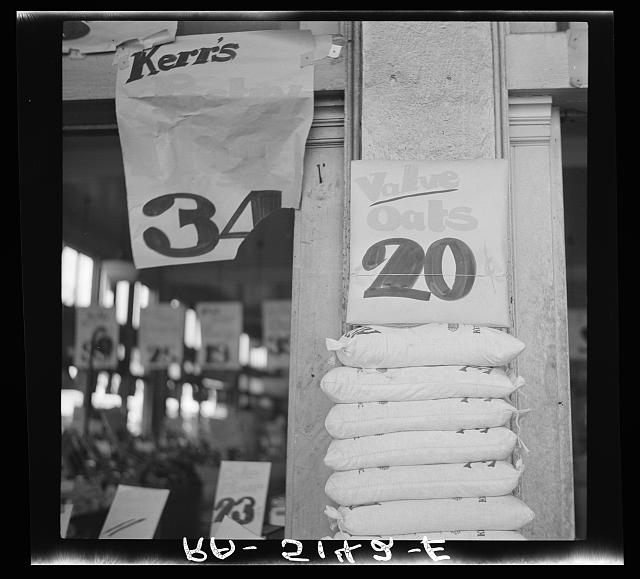 Drought raises price of flour. Portland, Oregon