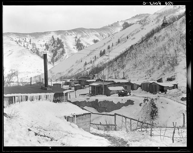 Utah coal mining town. Consumers, near Price, Utah. &quot;Dumping grounds of the West&quot;