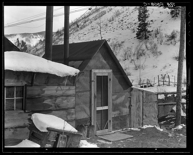 Utah coal miner's house. Consumers, near Price, Utah